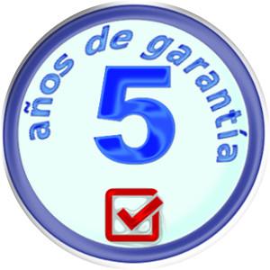 Cinco años de garantía en nuestros productos