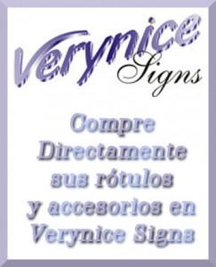 Venta directa Rótulos Verynice signs