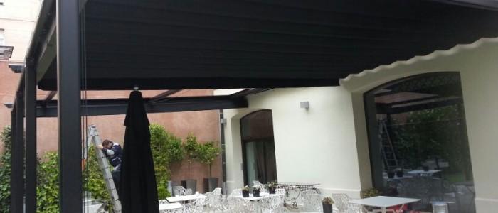 Pergola hostelería Hotel Unico