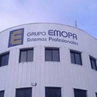 Trabajo de rotulación en sede y flota para EMOPA en Móstoles